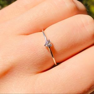 🤍💍New delicate heart sterling silver ring